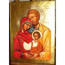 Święta Rodzina - złocona złotem 23 3/4 karat - CERTYFIKAT