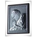 Papież Jan Paweł II  - obrazek posrebrzany (próba 925)