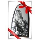 Matka Boża z dzieciątkiem  - obrazek posrebrzany (pr. 925)