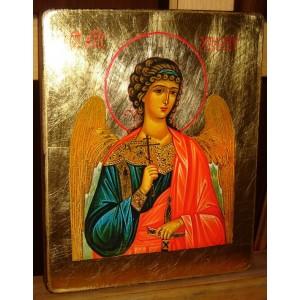 Anioł Stróż - Ikona złocona złotem 23 3/4 karat - CERTYFIKAT