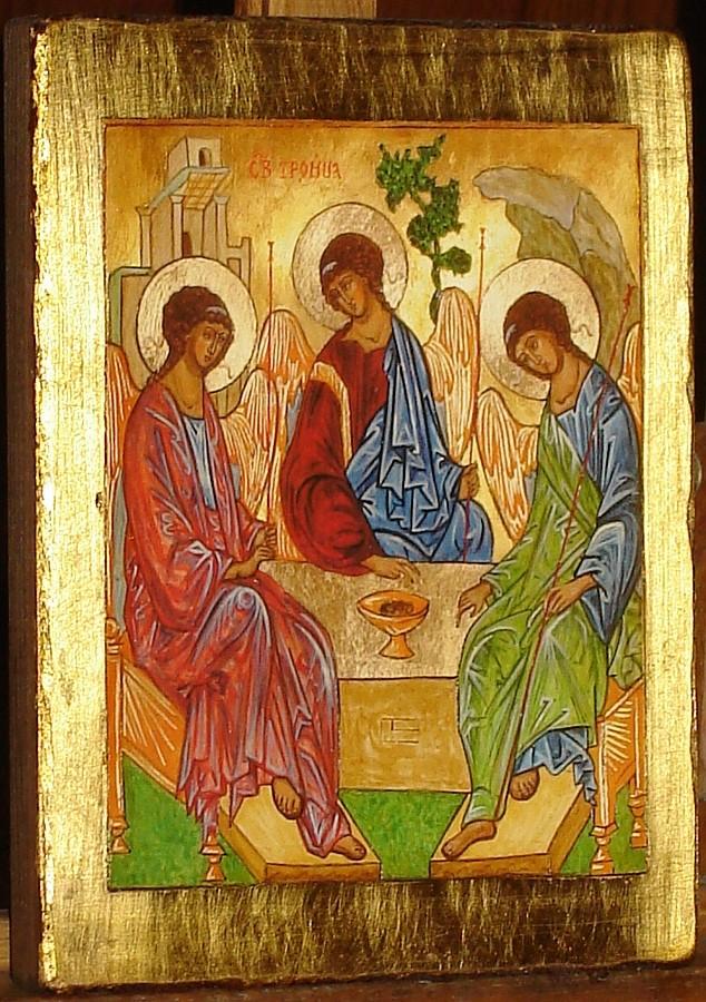 Ikona - Święta Trójca. Kopia ikony Andrieja Rublowa.