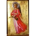 Anioł Obfitości, srebrna aureola wg Fra Agelico