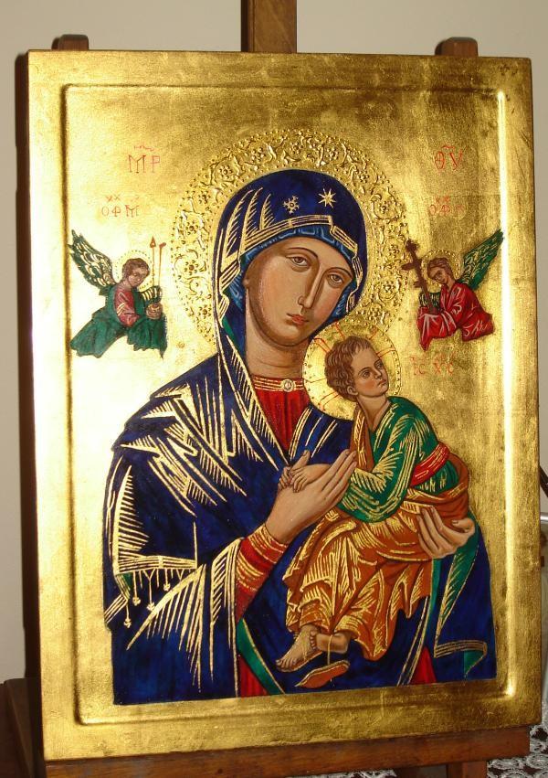 Matka Boża Nieustającej Pomocy - Ikona ręcznie malowana (pisana), Galeria www.ikony-art.com