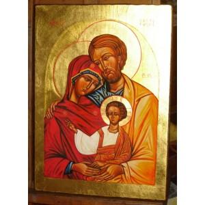 Święta Rodzina - złocona złoto 23 3/4 karat - CERTYFIKAT
