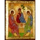 Święta Trójca - Ikona wg. A. Rublowa - zloto 23 3/4 karat - CERTYFIKAT